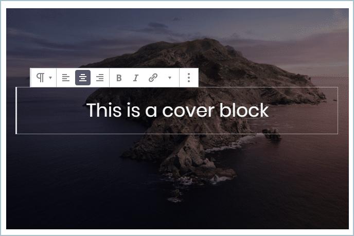 Gutenberg Cover Block