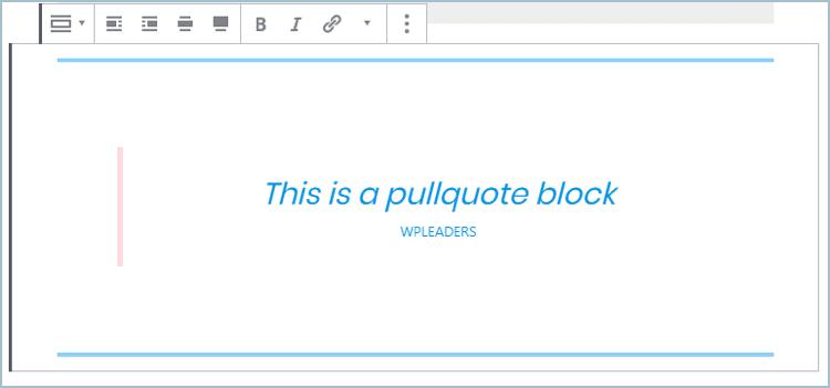 Gutenberg Pullquote Block