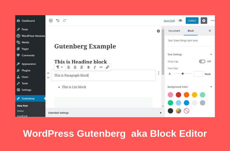 WordPress Gutenberg aka Block Editor